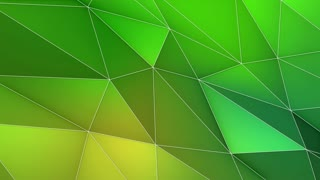 Multicolored Elegant Polygonal Surface | Triangular Polygons with Outlines | Low Poly Waves on a Plane Surface | Seamless Loop | Motion Background | Full HD 1920 1080 Lemon Green Yellow Turquoise