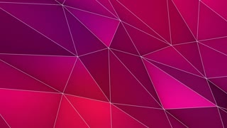 Multicolored Elegant Polygonal Surface | Triangular Polygons with Outlines | Low Poly Waves on a Plane Surface | Seamless Loop | Motion Background | Full HD 1920 1080 Pink Violet Magenta Red Maroon