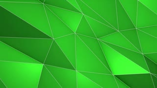 Multicolored Elegant Polygonal Surface | Triangular Polygons with Outlines | Low Poly Waves on a Plane Surface | Seamless Loop | Motion Background | Full HD 1920 1080 Solid Natural Green