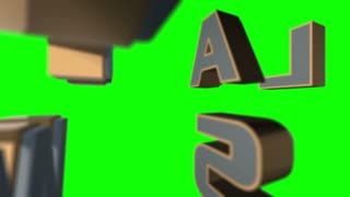 National News 3D Animated Graphics Text Over Green Screen