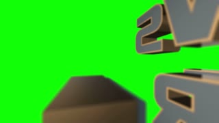 News Alert 3D Animated Graphics Text Over Green Screen