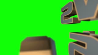 News Flash 3D Animated Graphics Text Over Green Screen