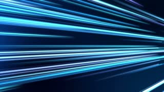 Tilted Colorful Light Beams and Streaks Seamless Motion Background Loop Full HD 1920x1080 Dark Blue Cyan