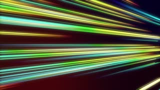Tilted Colorful Light Beams and Streaks Seamless Motion Background Loop Full HD 1920x1080 Seven Colors of Spectrum Rainbow Colours