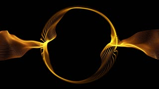 Ring of Light Particles | Version 1 | Colorful Glowing Orbs of Light in Circular Formation | Seamless Looping Motion Background | Video Backdrop | Full HD 1920 X 1080 | Gold Golden Brown Orange