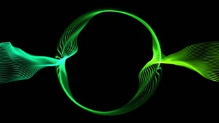 Ring of Light Particles | Version 1 | Colorful Glowing Orbs of Light in Circular Formation | Seamless Looping Motion Background | Video Backdrop | Full HD 1920 X 1080 | Green