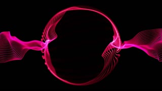 Ring of Light Particles | Version 1 | Colorful Glowing Orbs of Light in Circular Formation | Seamless Looping Motion Background | Video Backdrop | Full HD 1920 X 1080 | Pink Magenta