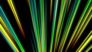 Rising Colorful Light Beams and Streaks Seamless Motion Background Loop Full HD 1920x1080 Multicolored