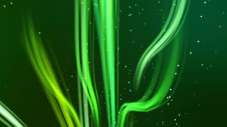 Rising Swirls of Colorful Lights Seamless Motion Background V2 Multiple Shades of Green