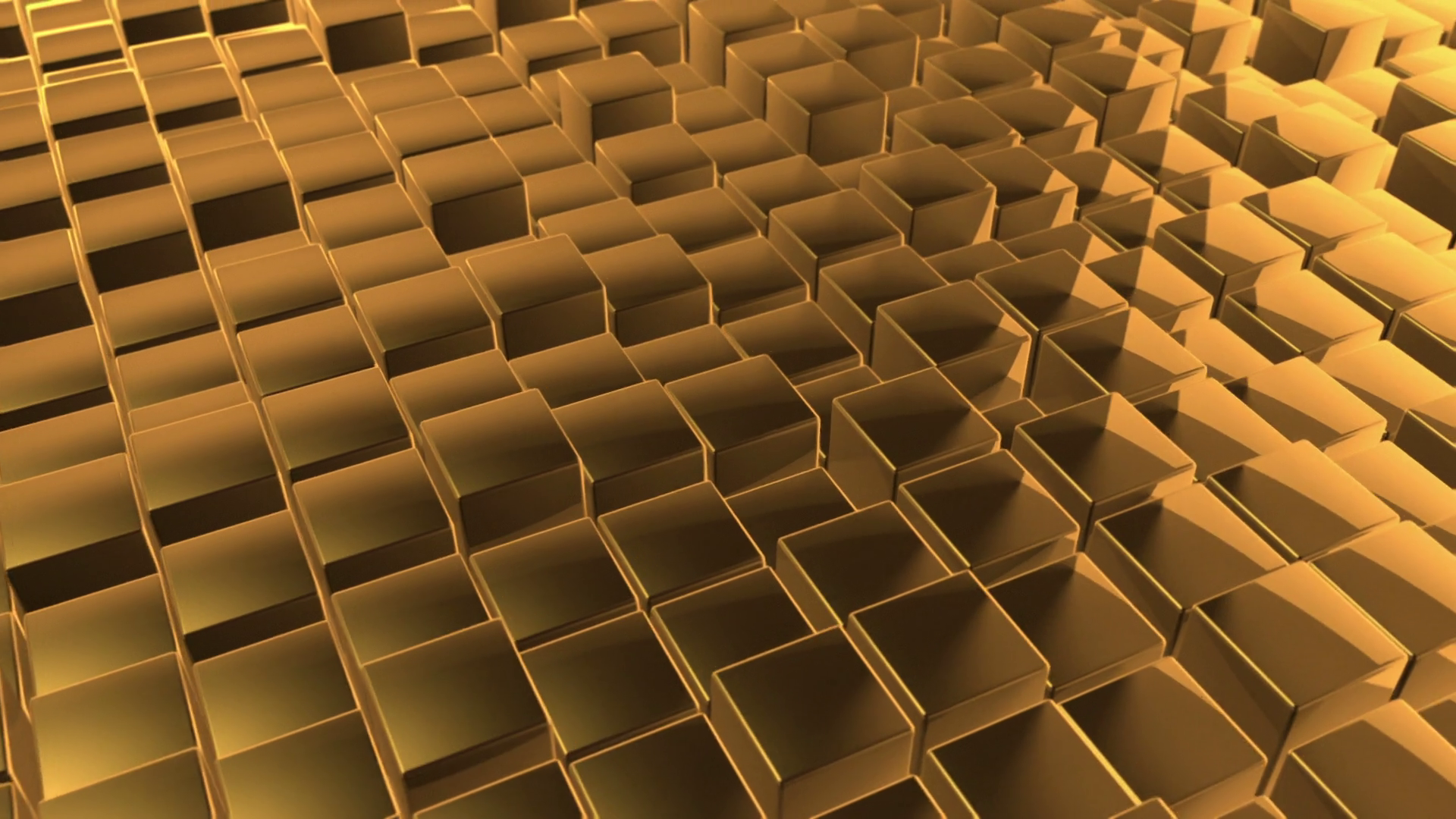 Scrolling Floor Made Up Of Metallic Cubes Shiny Metal Cubes With Displacement Seamless Looping Video Background 1920x1080 Full Hd Gold Motion Background Storyblocks
