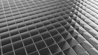 Scrolling Tiled Floor | Shiny Square Metal Tiles on a Plane Surface | Seamless Looping Video Background | 1920x1080 Full HD | Silver White |