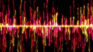 Smoky Wisps and Streams of Light Particles Rising Falling and Raining From Middle Version 1 Red Pink Gold Golden Yellow Orange Loopable Motion Background