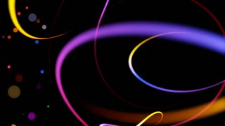 Swirly Iines and Streaks of Light with floating particles Seamless Looping Motion Background 01 Colorful