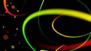 Swirly Iines and Streaks of Light with floating particles Seamless Looping Motion Background 01 Multicolored