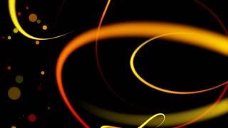 Swirly Iines and Streaks of Light with floating particles Seamless Looping Motion Background 01 Yellow Orange