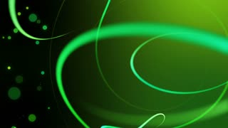 Swirly Iines and Streaks of Light with floating particles Seamless Looping Motion Background 02 Green