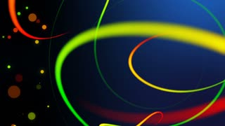 Swirly Iines and Streaks of Light with floating particles Seamless Looping Motion Background 02 Multicolored