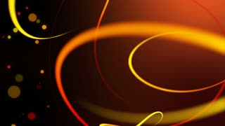 Swirly Iines and Streaks of Light with floating particles Seamless Looping Motion Background 02 Yellow Orange