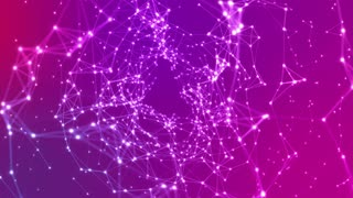 Fly Through Tunnel Of Connected Lines and Glowing Dots Seamless Loop Purple Violet Pink