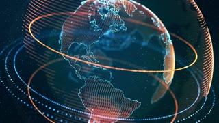 Virtual Globe Futuristic Earth Hologram Seamless Loop Motion Background 4K Ultra HD
