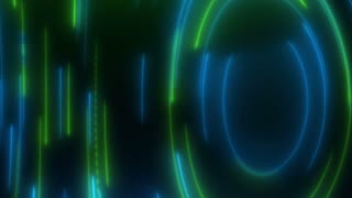 Vortex of Anti-Gravity Parallel Rain of Light and Energy [ Motion Background Seamless Loop 4K and Full HD Green Blue]
