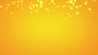 Yellow Bubbles Particles Background Looped 4K and Full HD