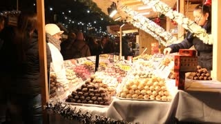 Budapest Christmas Market - Vorosmarty Square  Dec. 7 2015 - sweets and candies