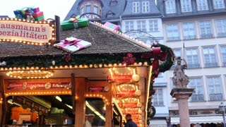 Christmas Market FrankFurt Germany - Römer square - Dec. 9 2015 Editorial Usage