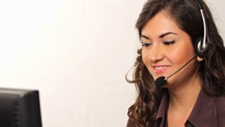 Customer Service worker helping out on phone