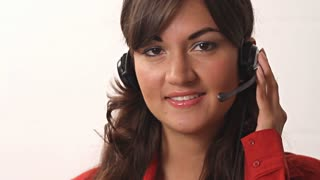 Customer Service worker Smiling