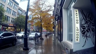 Gopro Walking streets of Montreal,  Plateau - Mont Royal 11/3/2016