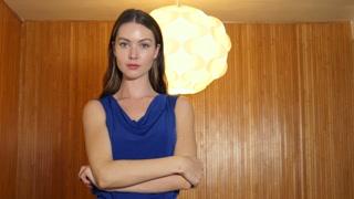 Confident young businesswoman entrepreneur portrait
