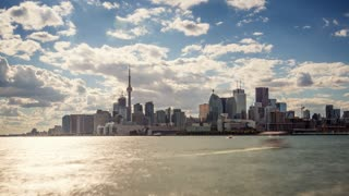 4K Timelapse Sequence of Toronto, Canada - Daytime from Polson Pier