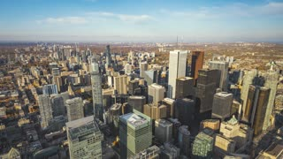 Toronto, Canada, Timelapse  - The Financial District at Daytime |  4K Timelapse footage of the financial district seen from the top of the CN Tower.