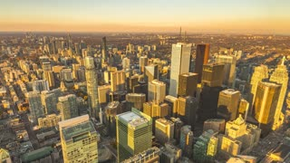 Toronto, Canada, Timelapse  - Downtown Toronto from Day to Night |  4K timelapse clip shot of Toronto's downtown seen from the top of the CN Tower.