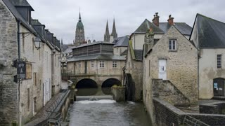 4K Timelapse Sequence of Bayeux, France - Downtown