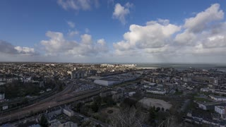 4K Timelapse Sequence of Cherbourg, France - Global view of the city