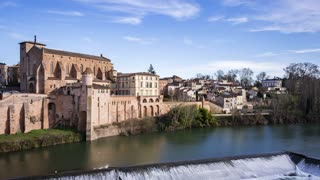 4K Timelapse Sequence of Gaillac, France - Daytime in the old town