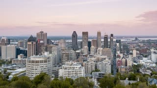 4K Timelapse Sequence of Montreal, Quebec, Canada - The Canadian city from Day to Night