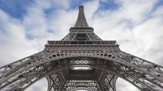 4K Timelapse Sequence of Paris, France - Under the Eiffel Tower