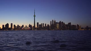 4K Video Sequence of Toronto, Canada - Toronto at Night