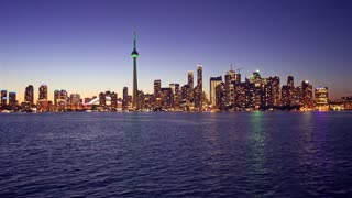 4K Video Sequence of Toronto, Canada - Toronto from the Ferry