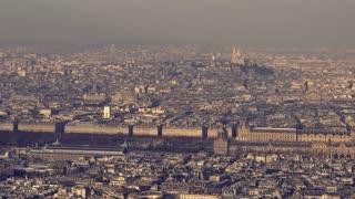 Aerial view of 'Le Louvre', Paris, France