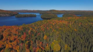 Algonquin Provincial Park at fall | Ontario Canada. 4K aerial drone footage filmed in Algonquin Provincial Park at fall.