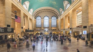 Grand Central Terminal in New York City | 4K timelapse clip shot in the iconic train station of NYC.
