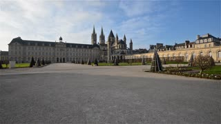 HD Video Sequence of Caen, France - The city Hall of Caen