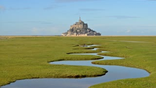 HD Video Sequence of Mont Saint-Michel, Normandy, France