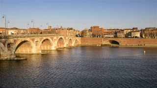 HD Video Sequence of Toulouse, France - The Pont Neuf