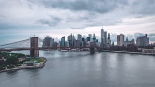 Lower Manhattan during the day | New York City | 4K timelapse sequence shot from Manhattan Bridge in New York City.