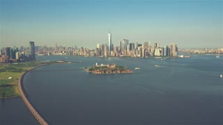 Lower Manhattan | New York City | 4K Aerial footage filmed from a helicopter.